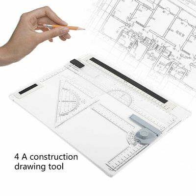 38*30cm A4 Drawing Board Office Graphic Design Work Drafting With Straight-#F