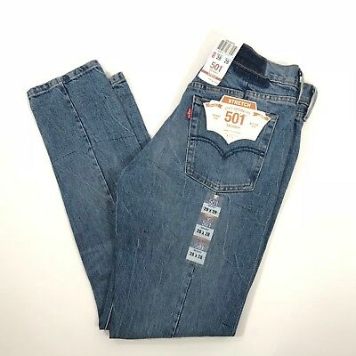 061d92e0 NEW LEVIS ALTERED 501 Skinny 26 Moody Blues Mom Jeans Stretch VTG ...