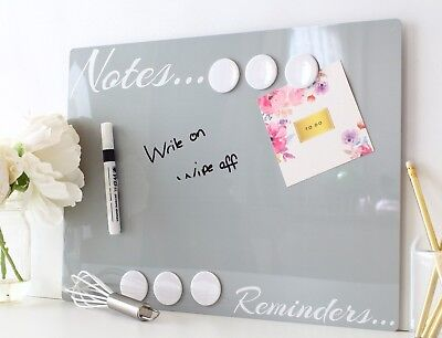 Kitchen Magnetic notice board whiteboard memo dry erase wipe notes reminders D13