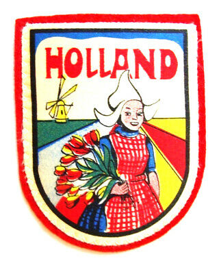 "Holland/Netherlands TRAVEL SOUVENIR PATCH 2 3/4"" - Unused"