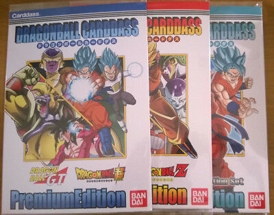 Dragon Ball Carddass Premium Edition・Dragon Ball Z GT Super [3 Sets = 18 Cartes]