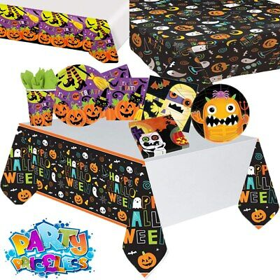 Halloween Party Table Decorations Tableware Spooky Plate Napkin Cup Table Cover