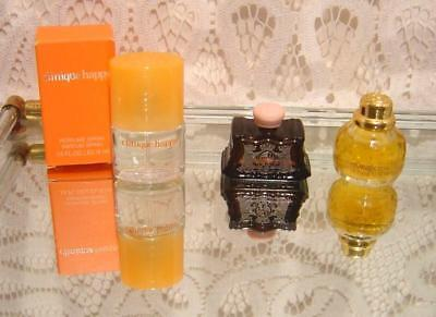 Three miniature perfumes Clinique HAPPY, Juicy Couture and Yves Saint Laurent
