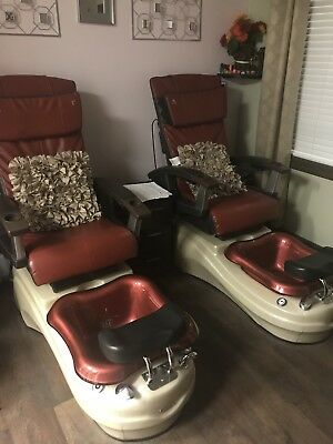 Used Pedicure Spa Chair Nail Salon Full Function Massage Chair
