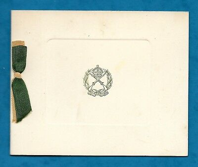 1920s CHRISTMAS CARD ARMY SMALL ARMS SCHOOL CORPS PACHMARHI, INDIA