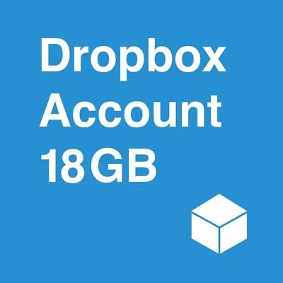 Dropbox Permanent 18 GB Lifetime Space account