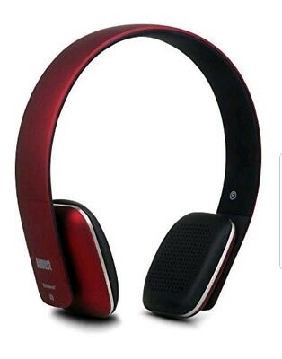 Wireless Headphones - Cordless Bluetooth Headset with Microphone,Red