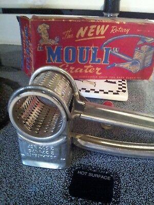 Mouli Hand Grater  in original box 1948 rotary