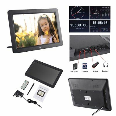 "12"" Digital Photo Frame HD TFT LCD LED Picture Video Player + Remote 12V UK"