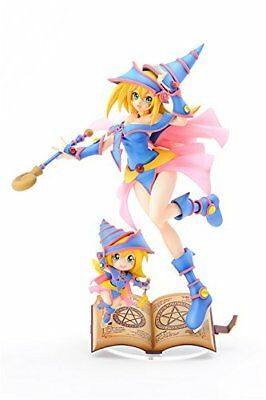 Yu-Gi-Oh Duel Monsters Black Magician Girl with Chibi Buramaji Girl Figure Used