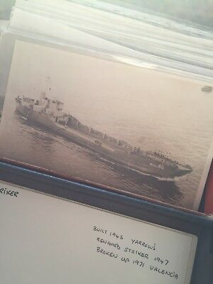 Box Of Quite Unique Warships Photographs Great Sell On Or Collector