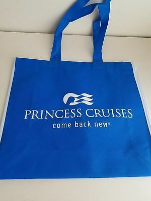 "Princess Cruise Line Blue Tote Bag Beach Carry All  "" ESCAPE COMPLETLY"""
