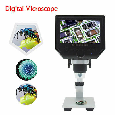 "Digital Microscope 4.3"" HD OLED 3.6MP 1-600X Magnifier G600 Portable LCD 1080P"