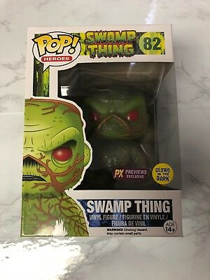 FUNKO POP  SWAMP THING GLOW IN THE DARK PX exclusive 4 inch VINYL FIGURE NEW!