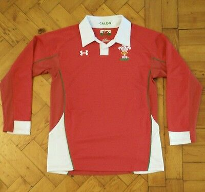 Classic Vintage Under Armour Wales Rugby Union Shirt Size Youth Large