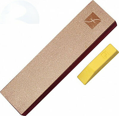 Flexcut PW14 Knife Strop, with 1 Ounce Bar of Gold Polishing Compound, 8 X 2...