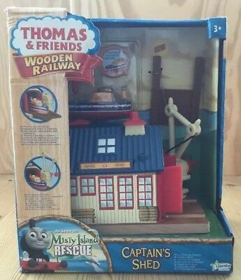Thomas & Friends Captain's Shed Kapitänskajüte Wooden Railway Holzeisenbahn