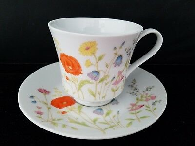 """Wilshire House Fine China by JEPCOR 5778 ENGLISH GARDEN Cup 3""""h Saucer 6""""d Japan"""