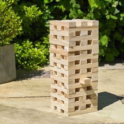 Giant Jenga Tower Wooden Blocks Outdoor Family Garden Game Kids Fun 1.2m Large