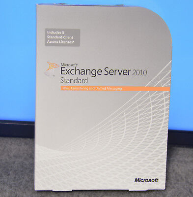 Microsoft Exchange Server 2010 Standard - Does Not Include Any Licenses CALs