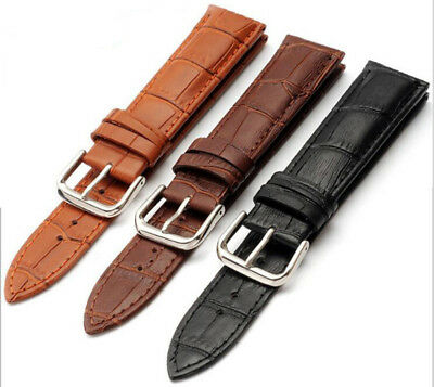 3 x WHOLESALE JOB LOT OF GENUINE LEATHER WATCH STRAP 22mm vintage watch