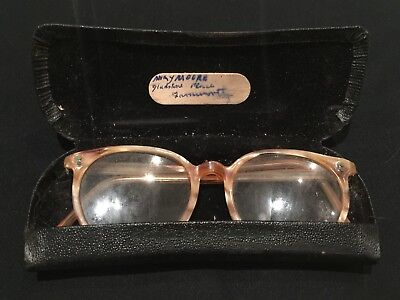 Antique Spectacles & Case With Owner Label - Old Vintage Glasses - Edwardian