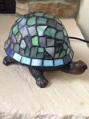 Stained Gl Turtle Accent Table Lamp Night Light Tiffany Style Beautiful