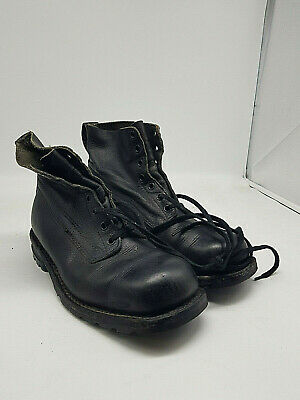 Swedish Army Work Combat Boots Full leather black new VINTAGE authentic good