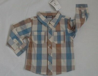 baby boys checked shirt by Bel and Bo  100 % cotton size 18-24 months BNWT