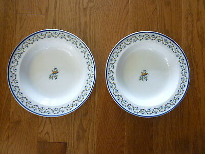 Pr. English Signed Polychrome Pearlware / Prattware Soup Plates C1790