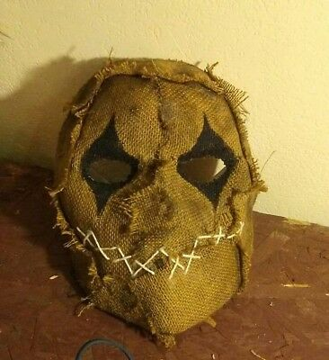 Scarecrow Burlap Scary Mask Natural Wizard of Oz Batman Halloween