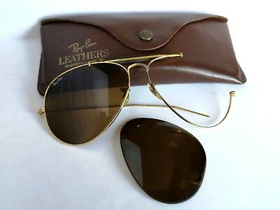 Occhiali Sunglasses Vintage Ray Ban Leathers B&l Usa 62-14 For Spares With Case