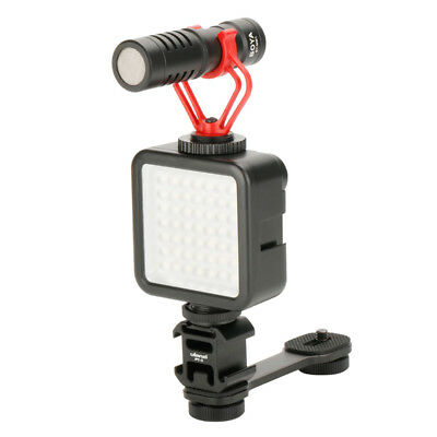 [NEW] Ulanzi PT-3 Metal Extention Bar Flash Light Bracket with 3 Cold Shoe Mount