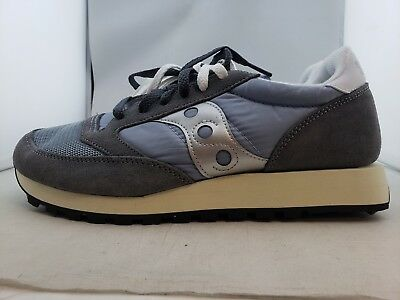finest selection fd058 e7fe0 SAUCONY JAZZ ORIGINAL Vintage Grey/Blue/White Sneakers Men's US 9 (N3,4)