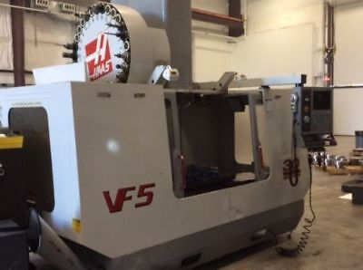 Used Haas VF-5 CNC Vertical Machining Center Mill CT50 Renishaw Probe Auger 2001