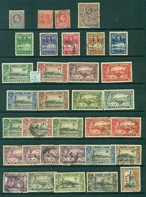 Lot 331. Sierra Leone,  Mint Used  Lh-Uh, 2 Scans. High Cat Values