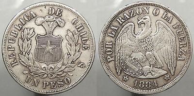CHILE: 1884-So Peso #WC76652