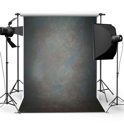 [NEW] 5x7ft Retro Black Abstract Backdrop Studio Photography Photo Background Pr