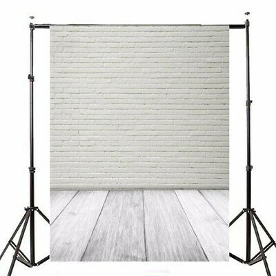 [NEW] 1.5X2.1m Photography Vinyl Background White Brick Wall Studio Backdrop