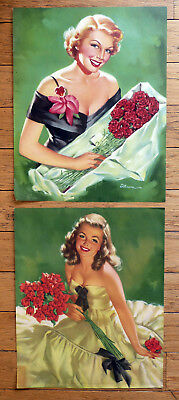 Set2~Vintage Calendar Advertising Proofs~Pin-Up/Beauty Queen/D'Ancona/Lithograph