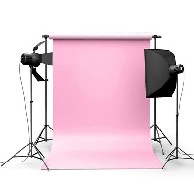 [NEW] 5x7ft Pure Pink Photography Background Cloth Backdrop For Studio