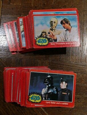 1977 Topps Star Wars Cards Series 2 Red 200+ Hp-Lp Card Lot