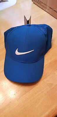 3aa155bc NEW Nike Golf AeroBill Legacy91 Perforated Adjustable Hat Cap Blue / White  OSFM