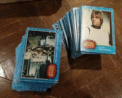1977 Topps Star Wars Blue 1st Series Lot Of 225+ Damaged-MP Cards