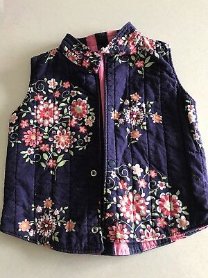 Quilted Reverseable Vest Jacket Girls Size 4