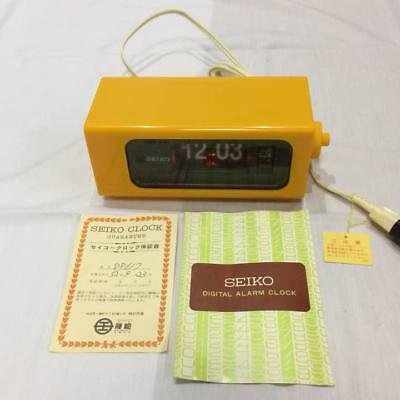 Seiko Digital Flip Clock with alarm DP617 1980s retro vintage Japan with manual