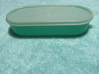 Tupperware Cheese Grater#1375 Jadeite Green Oval Keeper CONTAINER w/ LID ONLY