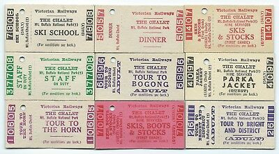 9 Different MT BUFFALO Tickets