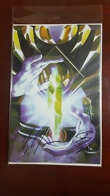 Mighty Morphin Power Rangers #25 Chaos Crystal Variant Shattered Grid '18 SIGNED