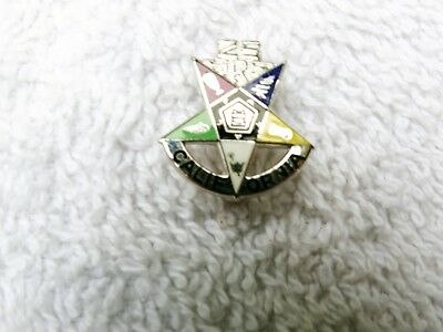 Rare Old Sterling California Masonic Order Of Eastern Star Oes Lapel Pin Beauty